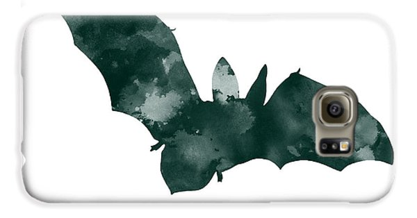 Bat Minimalist Watercolor Painting For Sale Galaxy S6 Case by Joanna Szmerdt