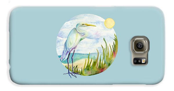 Beach Heron Galaxy S6 Case by Amy Kirkpatrick
