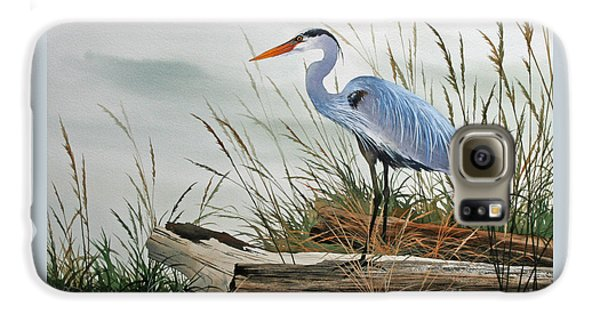 Beautiful Heron Shore Galaxy S6 Case by James Williamson