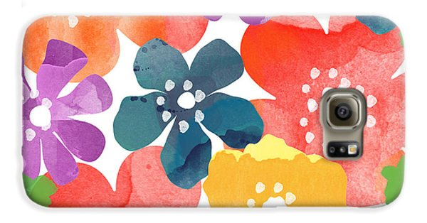 Big Bright Flowers Galaxy S6 Case by Linda Woods