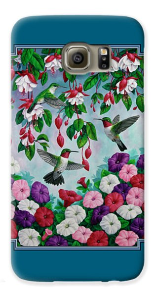 Bird Painting - Hummingbird Heaven Galaxy S6 Case by Crista Forest