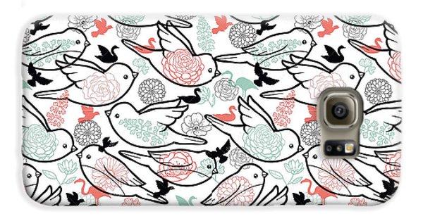 Bird Solid Galaxy S6 Case by Elizabeth Taylor