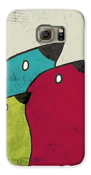 Birdies - V101s1t Galaxy S6 Case by Variance Collections