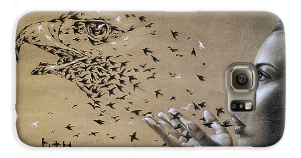Birds Of Poetry  Galaxy S6 Case by Fithi Abraham
