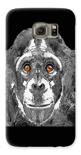 Black And White Art - Monkey Business 2 - By Sharon Cummings Galaxy S6 Case by Sharon Cummings