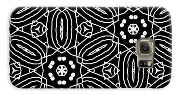 Black And White Boho Pattern 2- Art By Linda Woods Galaxy S6 Case by Linda Woods