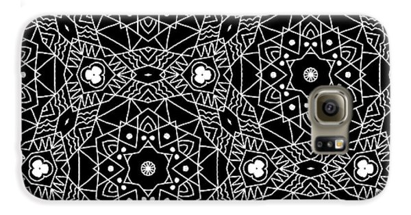 Black And White Boho Pattern 3- Art By Linda Woods Galaxy S6 Case by Linda Woods
