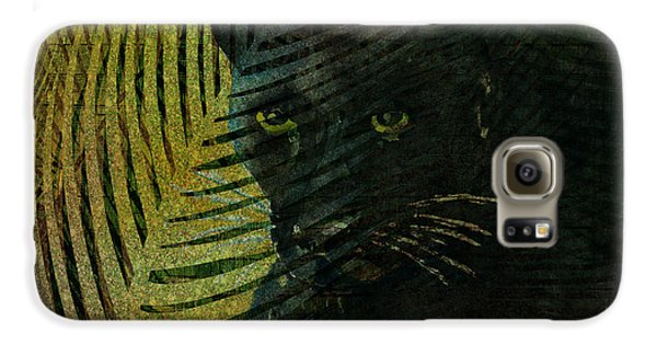 Black Panther Galaxy S6 Case by Arline Wagner