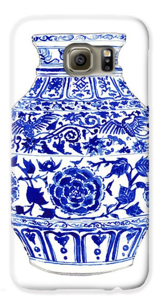 Blue And White Ginger Jar Chinoiserie 4 Galaxy S6 Case by Laura Row