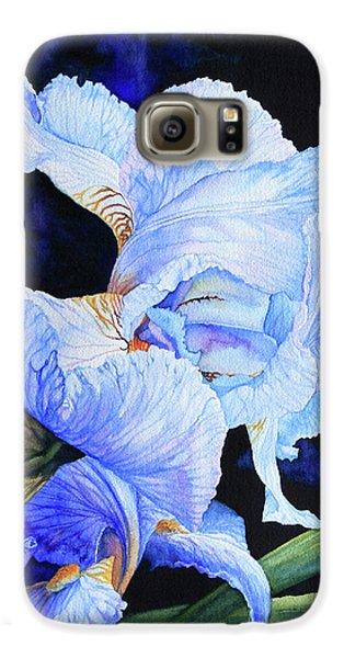 Blue Summer Iris Galaxy S6 Case by Hanne Lore Koehler
