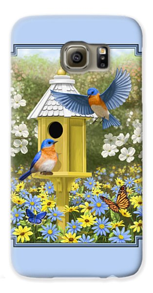 Bluebird Garden Home Galaxy S6 Case by Crista Forest