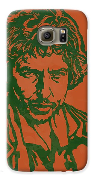 Bob Dylan Pop Stylised Art Sketch Poster Galaxy S6 Case by Kim Wang