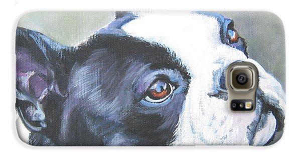 boston Terrier butterfly Galaxy S6 Case by Lee Ann Shepard