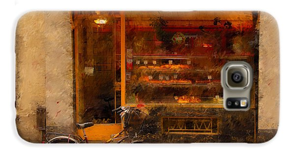 Boulangerie And Bike 2 Galaxy S6 Case by Mick Burkey