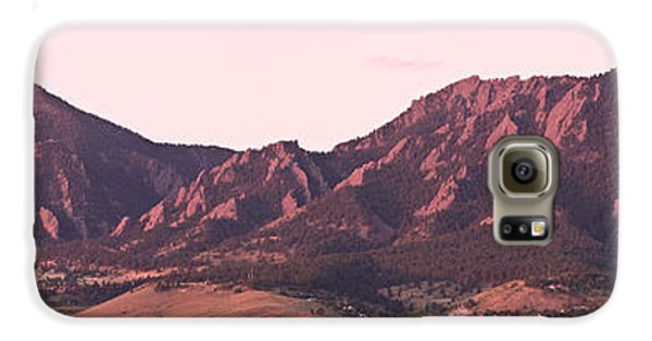 Boulder Colorado Flatirons 1st Light Panorama Galaxy S6 Case by James BO  Insogna