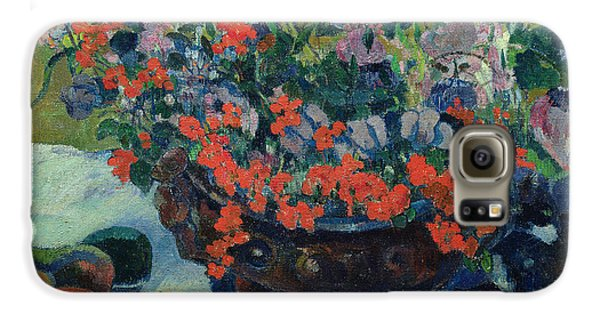 Bouquet Of Flowers Galaxy S6 Case by Paul Gauguin