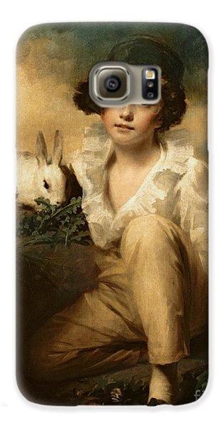 Boy And Rabbit Galaxy S6 Case by Sir Henry Raeburn
