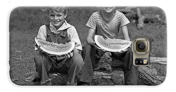 Boys Eating Watermelons, C.1940s Galaxy S6 Case by H. Armstrong Roberts/ClassicStock