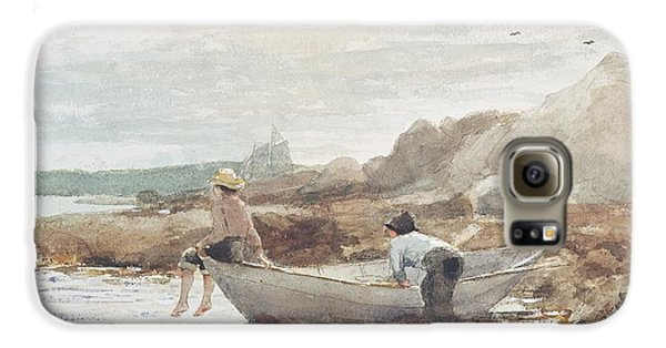 Boys On The Beach Galaxy S6 Case by Winslow Homer