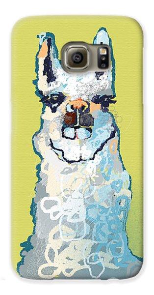 Bright Mustard Llama Galaxy S6 Case by Niya Christine