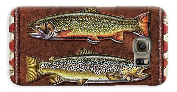 Brook And Brown Trout Lodge Galaxy S6 Case by JQ Licensing