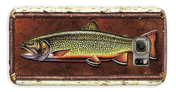 Brook Trout Lodge Galaxy S6 Case by JQ Licensing