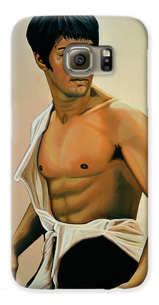 Bruce Lee Painting Galaxy S6 Case by Paul Meijering