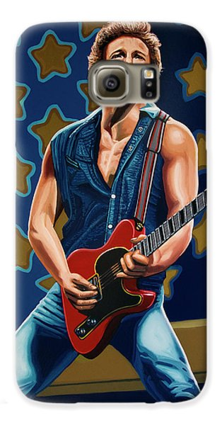 Bruce Springsteen The Boss Painting Galaxy S6 Case by Paul Meijering
