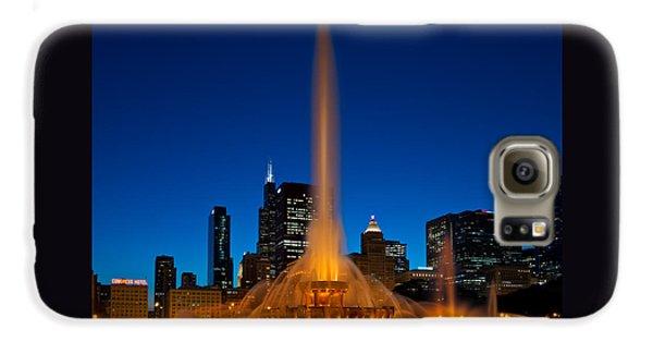 Buckingham Fountain Nightlight Chicago Galaxy S6 Case by Steve Gadomski