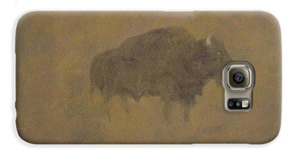 Buffalo In A Sandstorm Galaxy S6 Case by Albert Bierstadt