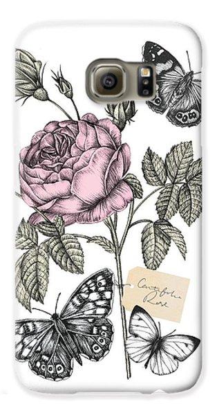 Cabbage Rose Galaxy S6 Case by Stephanie Davies