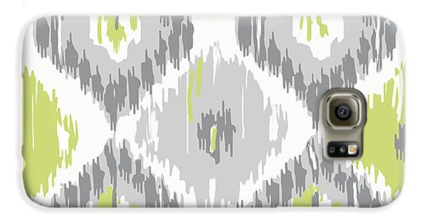 Calyx Ikat Pattern Galaxy S6 Case by Mindy Sommers