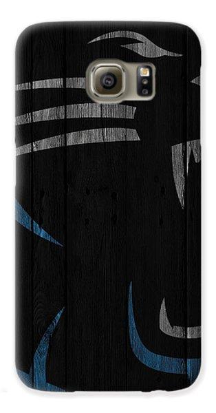 Caroilina Panthers Wood Fence Galaxy S6 Case by Joe Hamilton
