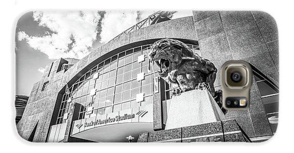Carolina Panthers Stadium Black And White Photo Galaxy S6 Case by Paul Velgos
