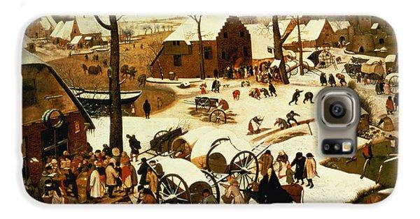 Census At Bethlehem Galaxy S6 Case by Pieter the Elder Bruegel