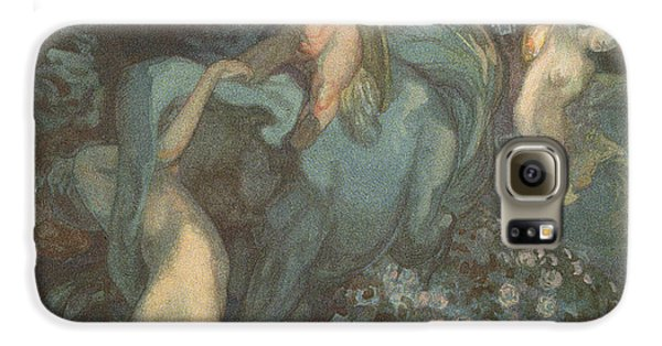 Centaur Nymphs And Cupid Galaxy S6 Case by Franz von Bayros