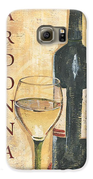 Chardonnay Wine And Grapes Galaxy S6 Case by Debbie DeWitt