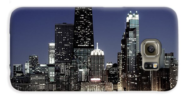 Chicago At Night High Resolution Galaxy S6 Case by Paul Velgos