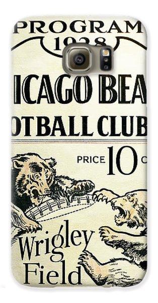 Chicago Bears Football Club Program Cover 1928 Galaxy S6 Case by Daniel Hagerman