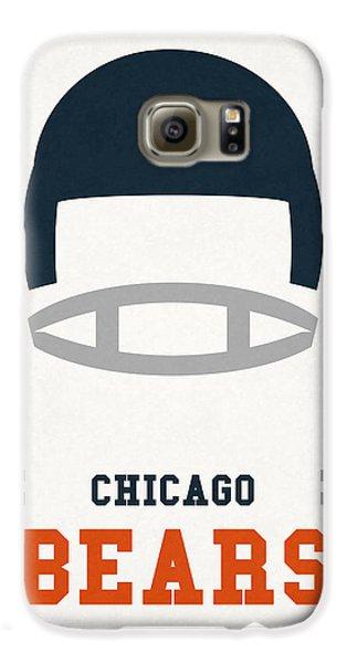Chicago Bears Vintage Art Galaxy S6 Case by Joe Hamilton