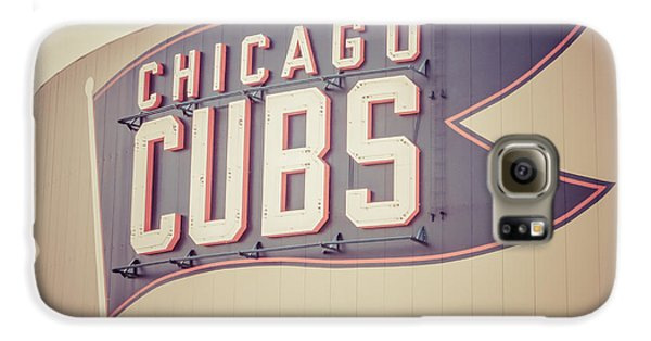 Chicago Cubs Sign Vintage Picture Galaxy S6 Case by Paul Velgos