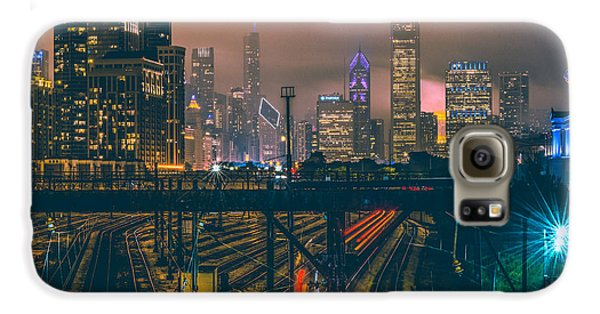 Chicago Night Skyline  Galaxy S6 Case by Cory Dewald
