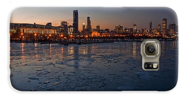Chicago Skyline At Dusk Galaxy S6 Case by Sven Brogren