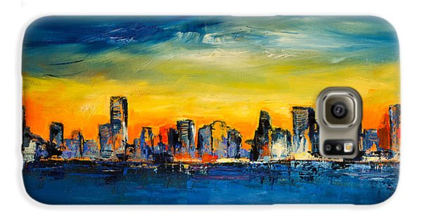 Chicago Skyline Galaxy S6 Case by Elise Palmigiani