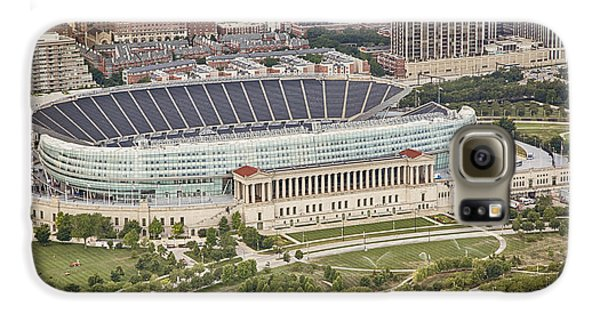 Chicago's Soldier Field Aerial Galaxy S6 Case by Adam Romanowicz