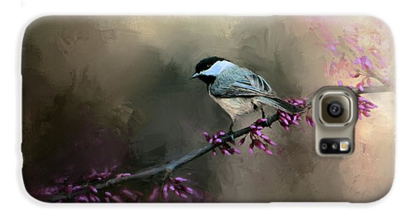Chickadee In The Light Galaxy S6 Case by Jai Johnson