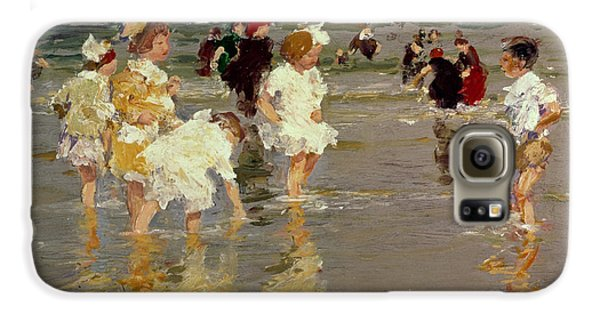 Children On The Beach Galaxy S6 Case by Edward Henry Potthast