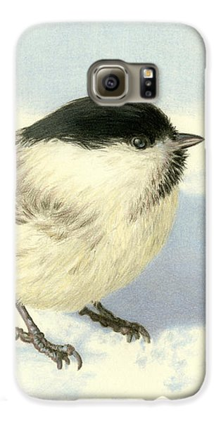 Chilly Chickadee Galaxy S6 Case by Sarah Batalka