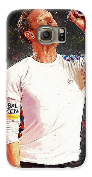 Chris Martin - Coldplay Galaxy S6 Case by Semih Yurdabak