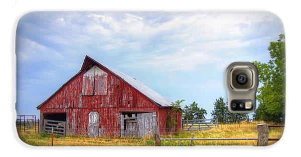 Christian School Road Barn Galaxy S6 Case by Cricket Hackmann
